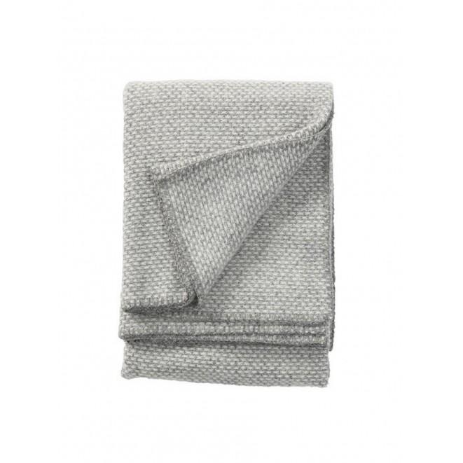 Wool throw Domino light grey