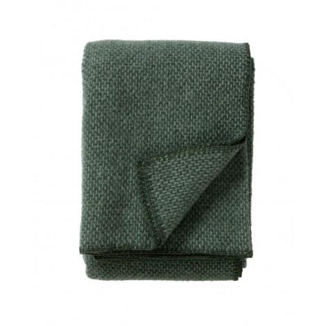 Wool throw Domino green