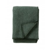 Wool throw Domino green