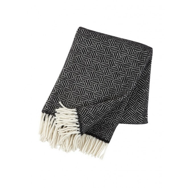 Wool throw Samba black