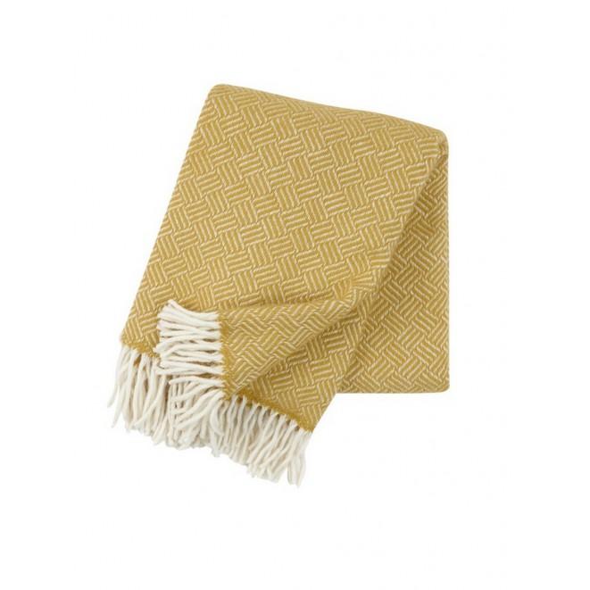 Wool throw Samba yellow