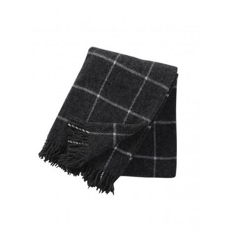 Wool throw Vinga dark grey