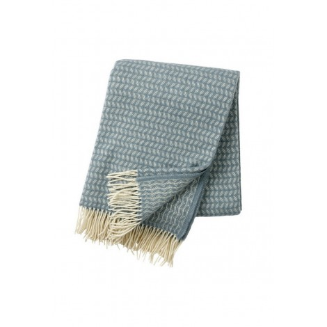 Wool throw Leaf lead grey