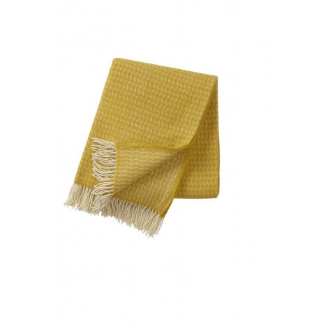 Wool throw Leaf yellow
