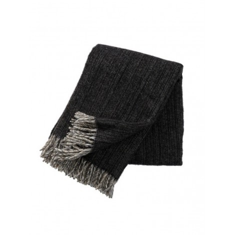 Wool throw Bjork black