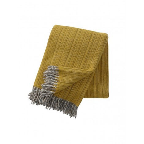 Wool throw Bjork yellow
