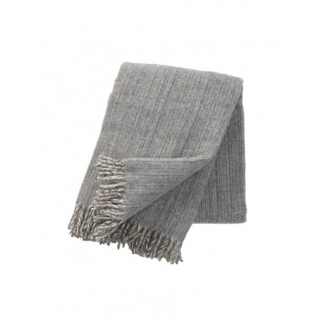 Wool throw Bjork grey
