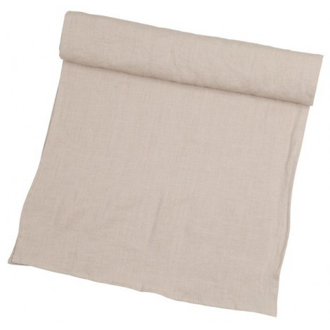 Linen table runner Linn beige