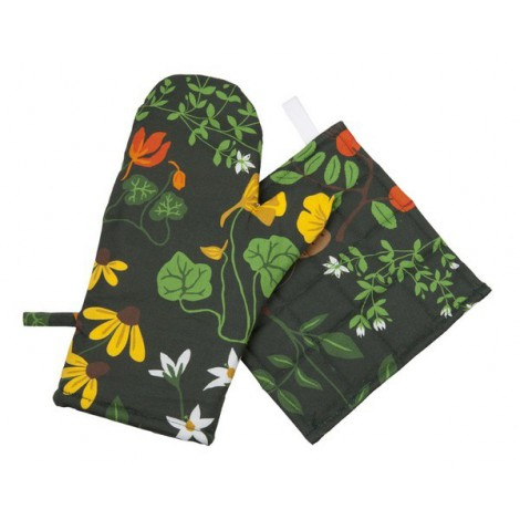 Oven glove Leksand green