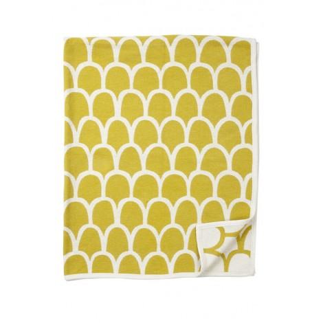 Bavlněná deka chenille Feathers yellow