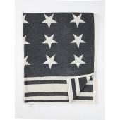 Cotton chenille blanket Stars dark grey