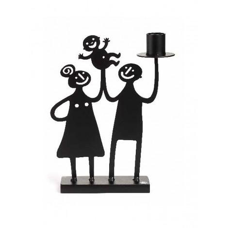 Kovový svícen Family