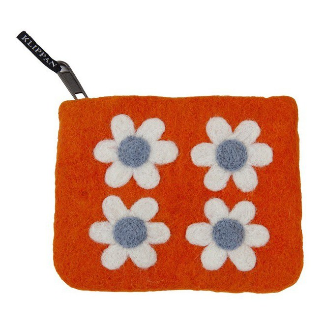 Purse Flower Power orange