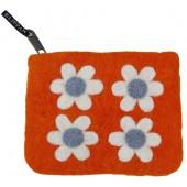 Purse Flower Power orange