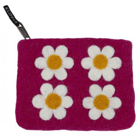 Purse Flower Power pink