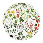 Round tray  Leksand white