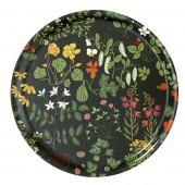 Round tray  Leksand green