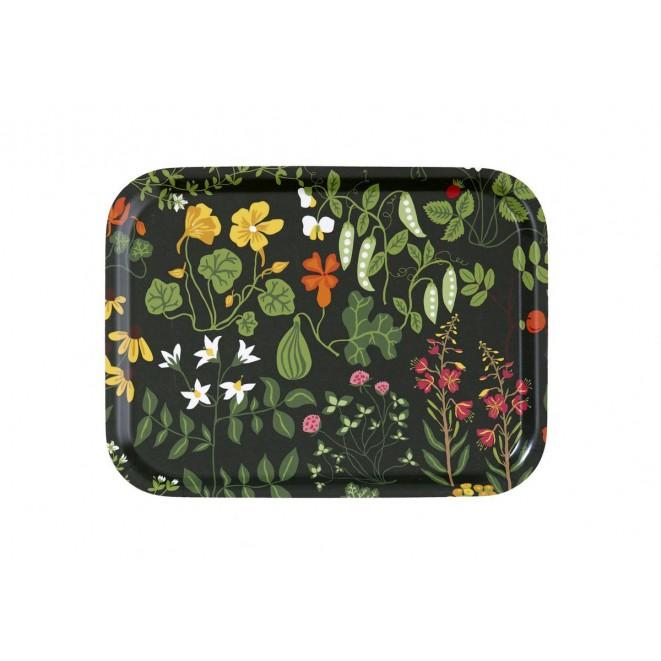 Small tray Leksand green