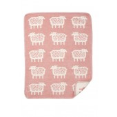Cotton baby blanket chenille Sheep pink