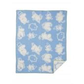 Bavlněná dětská deka Moomin blue