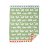 Cotton baby blanket Africa green