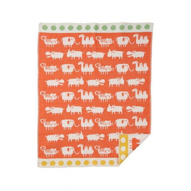 Cotton baby blanket Africa orange