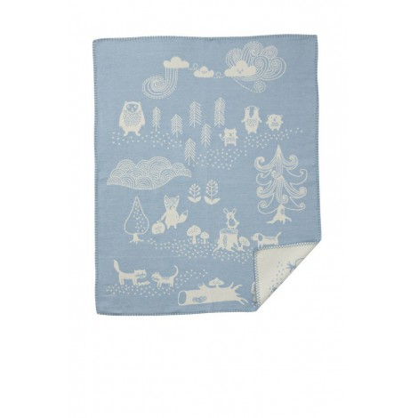 Cotton baby blanket Little Bear blue