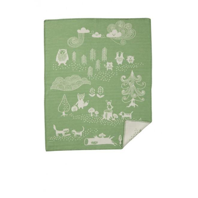 Bavlněná dětská deka Little Bear green
