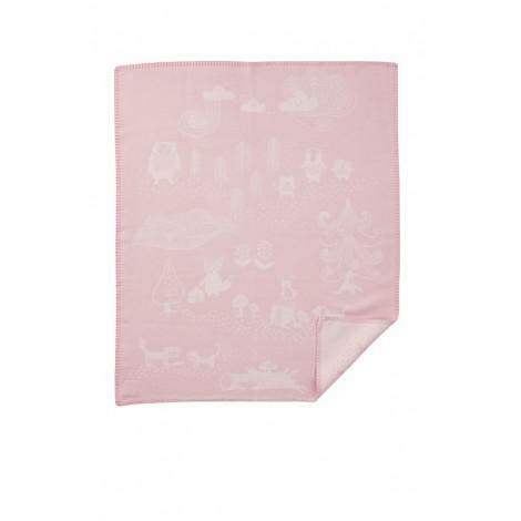 Bavlněná dětská deka Little Bear pink