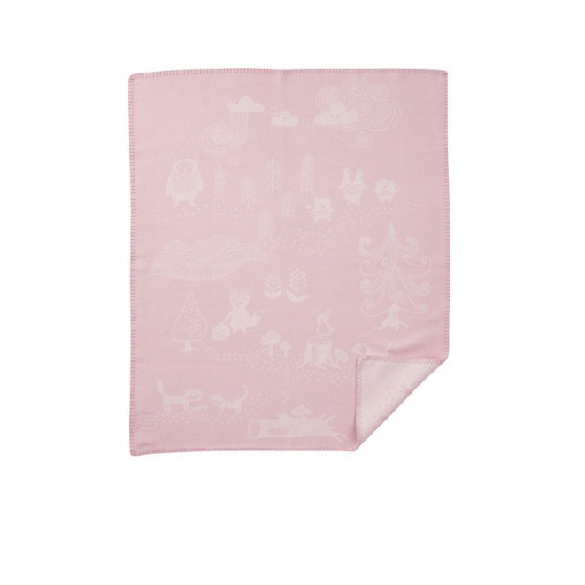 Cotton baby blanket Little Bear pink