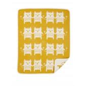 Bavlněná dětská deka chenille Little Me yellow