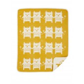 Cotton baby blanket Little Me yellow