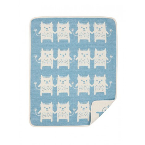 Cotton baby blanket Little Me tyrkys