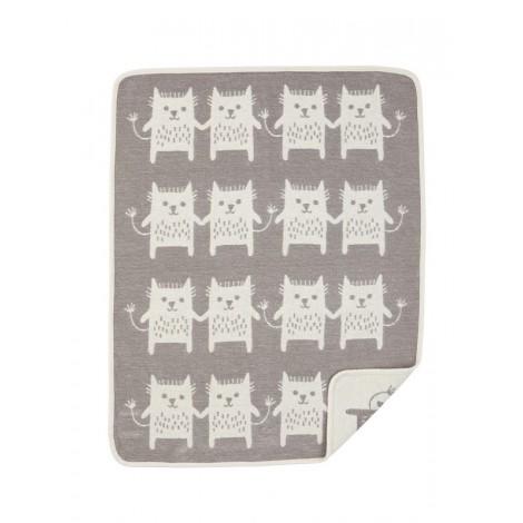 Bavlněná dětská deka chenille Little Me grey