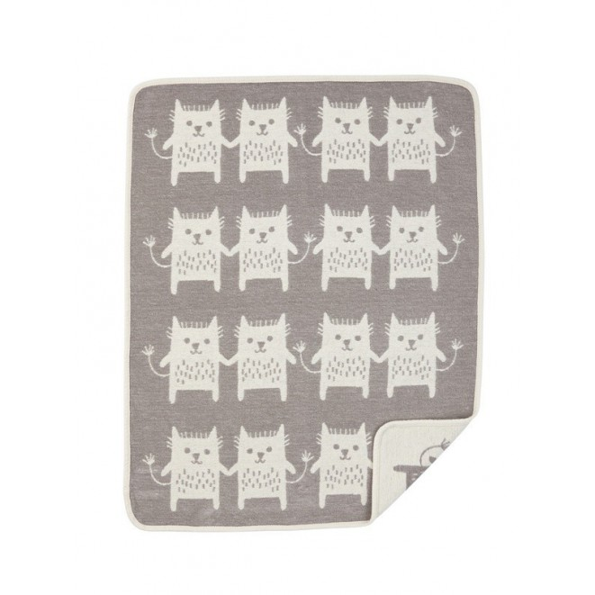 Cotton baby blanket Little Me grey