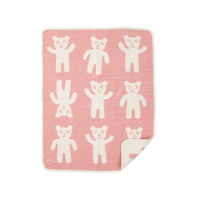 Bavlněná dětská deka chenille Bruno pink