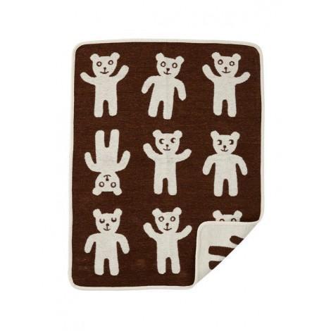Bavlněná dětská deka chenille Bruno brown
