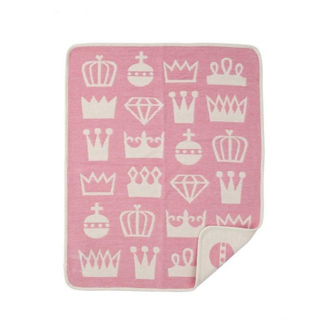 Bavlněná dětská deka chenille Royal pink
