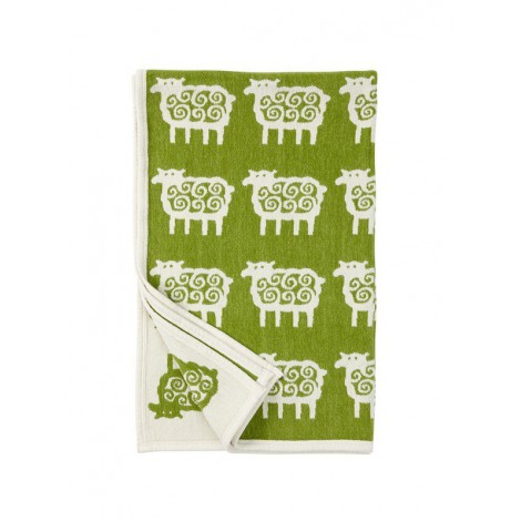 Cotton baby blanket chenille Sheep green