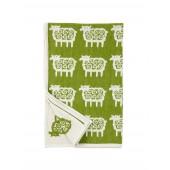 Bavlněná dětská deka chenille Sheep green