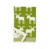 Cotton baby blanket chenille Moose green