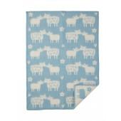 Vlněná dětská deka Baa blue