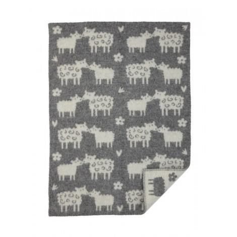261804ee0 Wool Baby blanket Baa grey