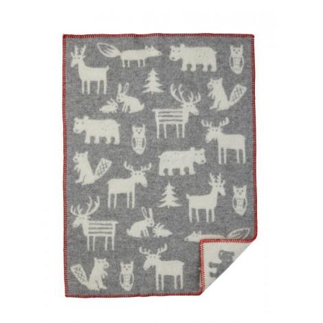 Vlněná dětská deka Forest grey