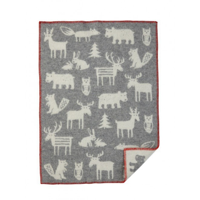 Wool Baby blanket Forest grey