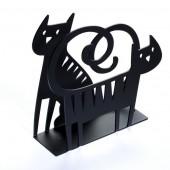 Držák na ubrousky Cat black