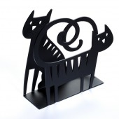 Napkin holders Cat black