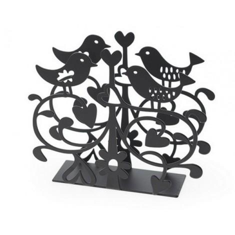 Držák ubrousků Love birds black