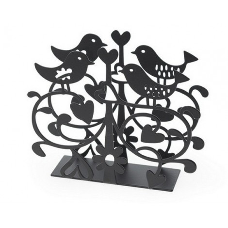 Napkin holders Love birds black