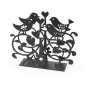 Držák na ubrousky Love birds black